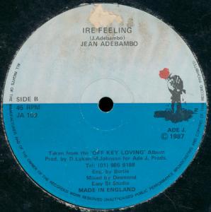 Jean Adebambo - Irie Feeling (Ade J., 1987)